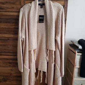NWT fringed cardigan with pockets